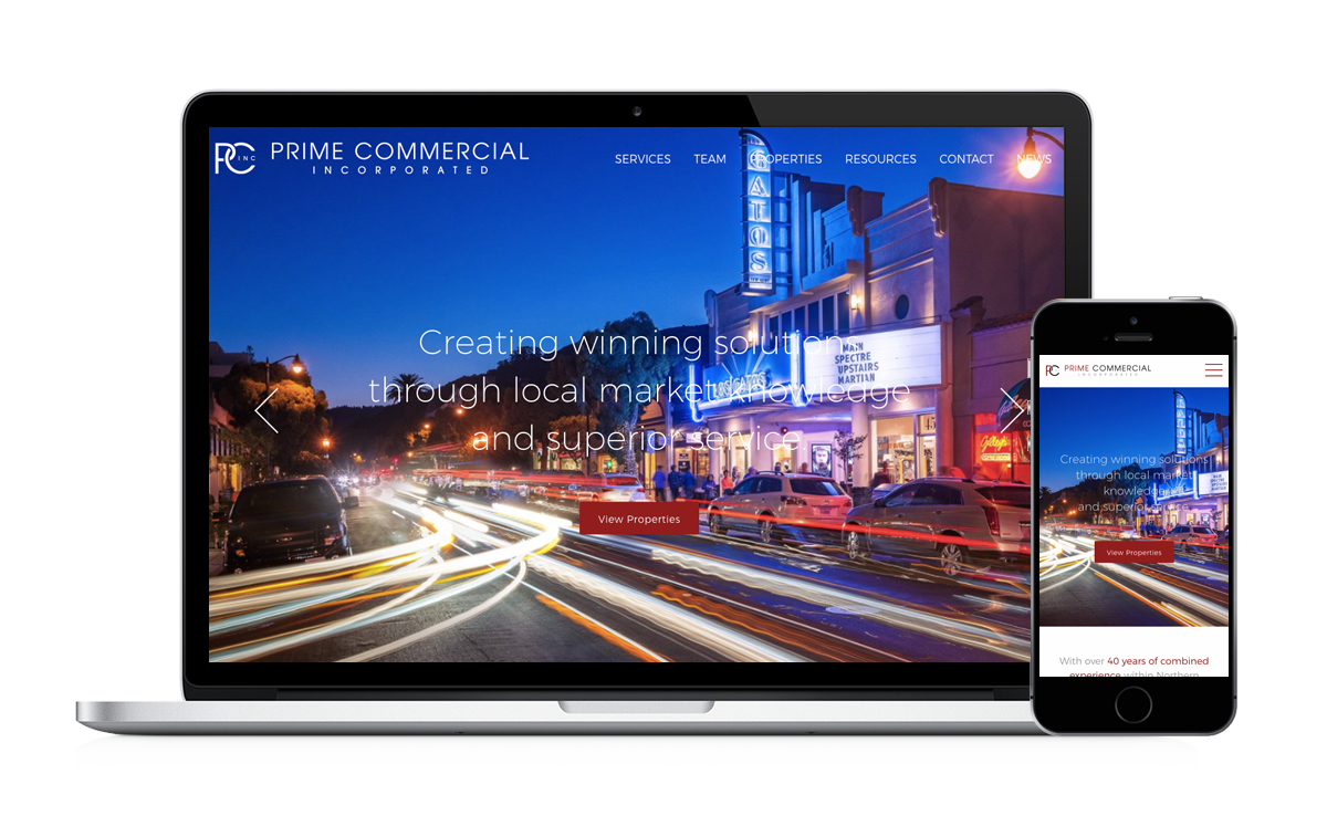 prime commercial inc real estate