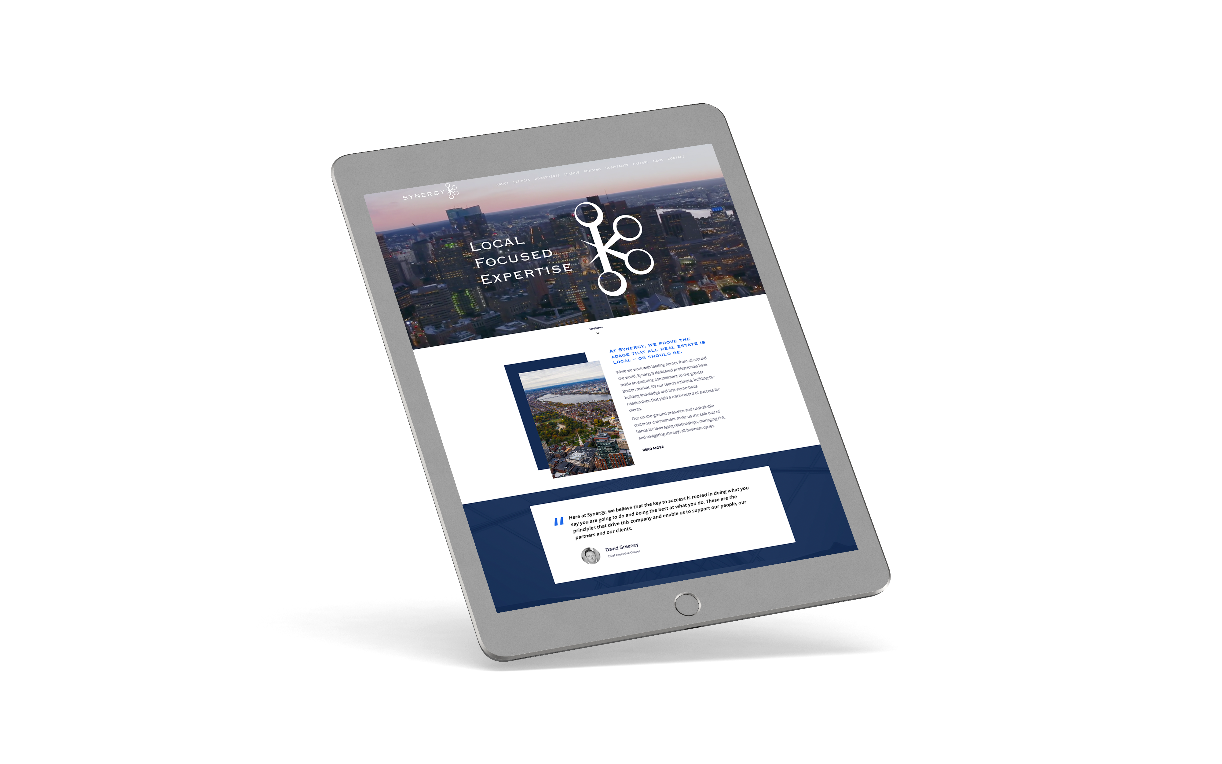synergy boston commercial real estate ipad